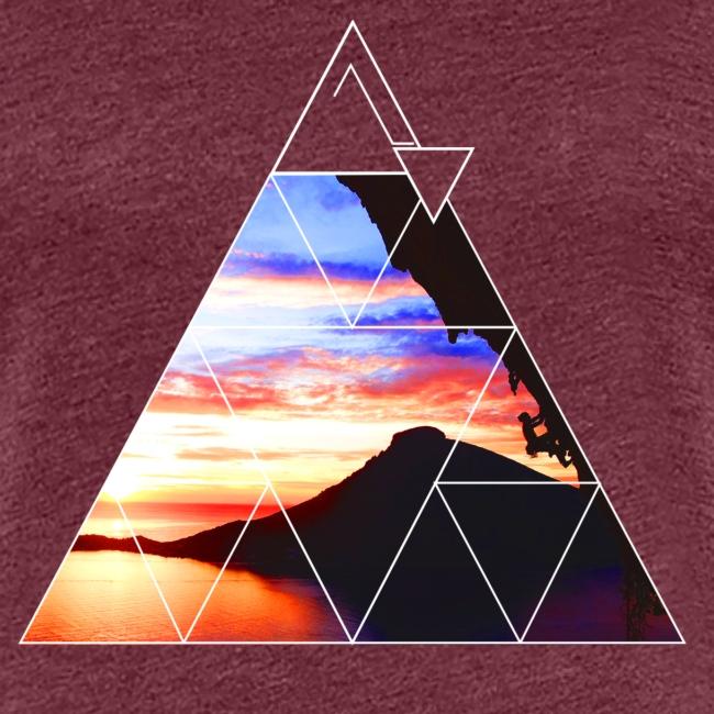 Kalymnos klettern bei Sonnenuntergang
