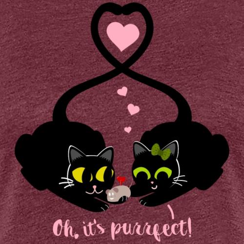 Gatitos con regalo (Oh, it's purrfect!) - Camiseta premium mujer