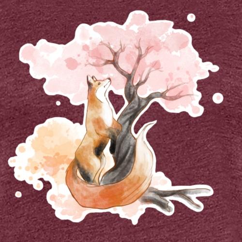 sakura fox - T-shirt Premium Femme