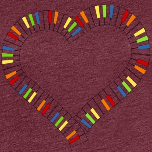 piano herz - Frauen Premium T-Shirt