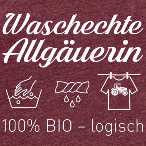 Waschechte Allgäuerin weiss - Frauen Premium T-Shirt