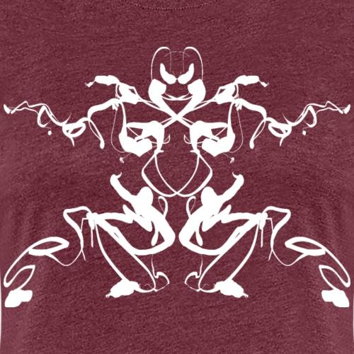 Rorschach test of a Shaolin figure Tigerstyle - Women's Premium T-Shirt