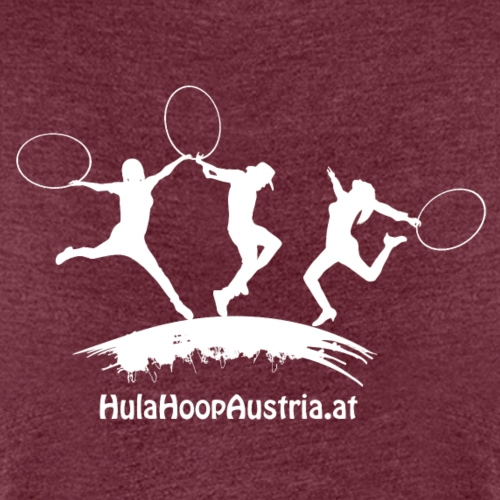 Hula Hoop Jumping Shadow White - Frauen Premium T-Shirt
