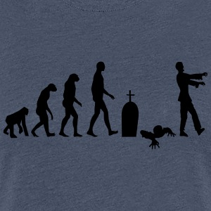 Zombie evolution - Dame premium T-shirt