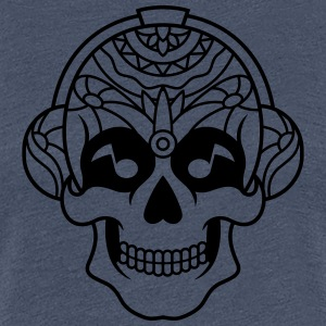 Sugar Skull Mexican music headphone / sugarskull - Women's Premium T-Shirt