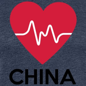 heart China - Women's Premium T-Shirt