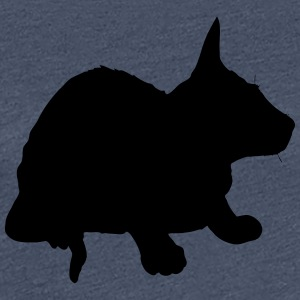 Vector Cat Silhouette - Premium T-skjorte for kvinner