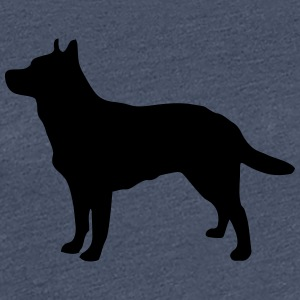Australian Cattle Dog Silhouette - Frauen Premium T-Shirt