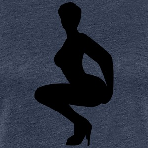 Silhouette woman - Women's Premium T-Shirt