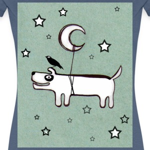 Dog, Bird & Moon - Women's Premium T-Shirt