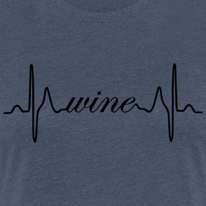 Wine heartbeat ECG - Women's Premium T-Shirt
