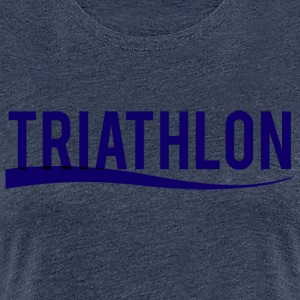 Triathlon Blå Edition - Dame premium T-shirt
