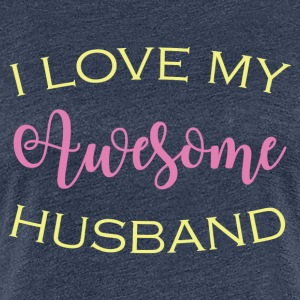 AWESOME HUSBAND - Women's Premium T-Shirt