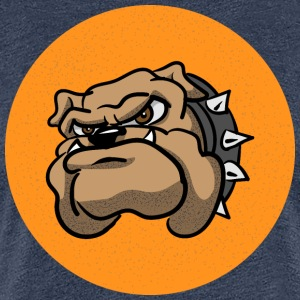 Cartoon Bulldog - Dame premium T-shirt