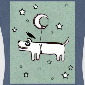 Dog ,Bird & Moon - Frauen Premium T-Shirt