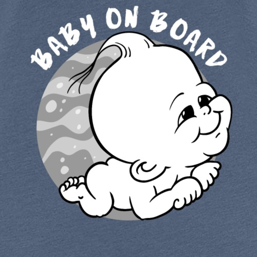 baby on board black white gray for on black - Vrouwen Premium T-shirt