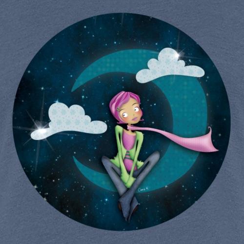 Jeune fille dans la lune - T-shirt Premium Femme