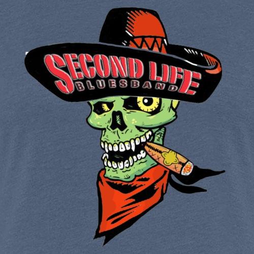 Second Life Bluesband Sombrero-Skull - Frauen Premium T-Shirt