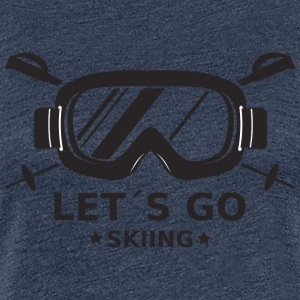 skiing - Women's Premium T-Shirt