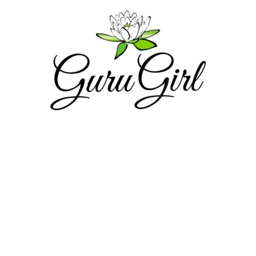 Guru Girl med Lotus blomman -Ren, balans, upplyst. - Premium-T-shirt dam