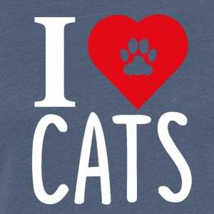 ++ I LOVE CATS ++ - Women's Premium T-Shirt