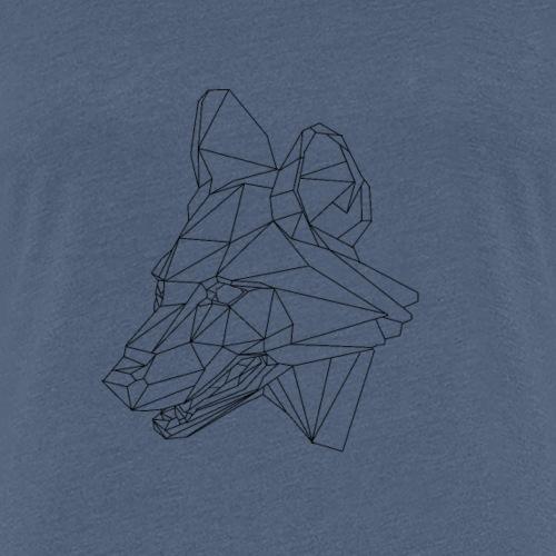 loup géométrique - T-shirt Premium Femme