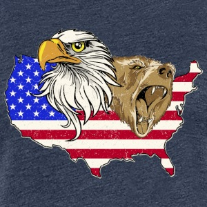 USA Adler eagle grizzly beer America America - Vrouwen Premium T-shirt