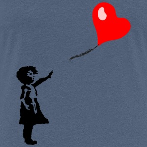 Girl with heart balloon - Women's Premium T-Shirt