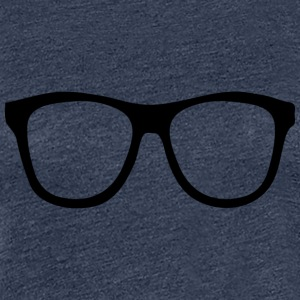 Rimmed Glasses for Nerds Geeks & computer science students - Women's Premium T-Shirt