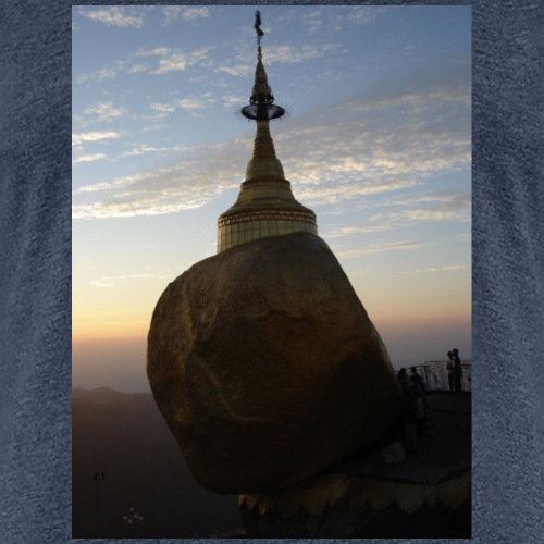 Goldener Felsen - Frauen Premium T-Shirt