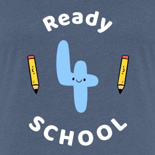 Bereit für Schule Schulkind Schulanfang - Frauen Premium T-Shirt