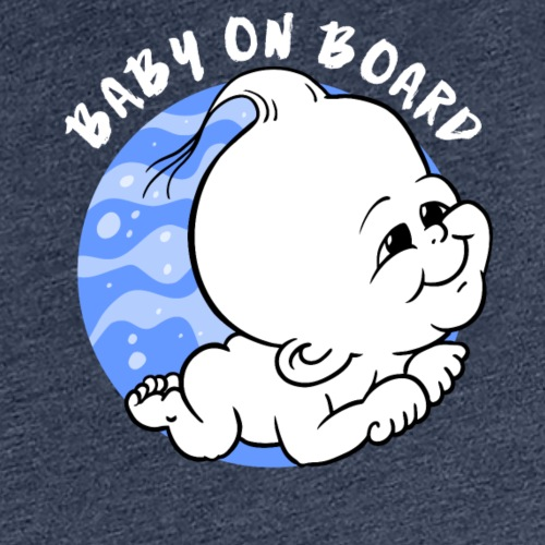 baby on board boy white gray for on black - Vrouwen Premium T-shirt