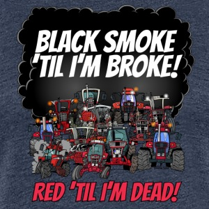 2016_black_smoke_red_IH_tshirt - Premium T-skjorte for kvinner