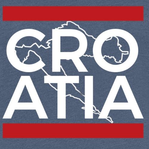 Kroatien Weiß - Frauen Premium T-Shirt
