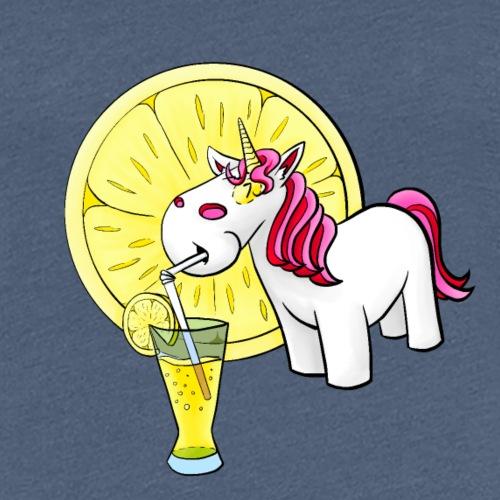 Kuscheleinhorm mit Zitronenlimonade - Frauen Premium T-Shirt