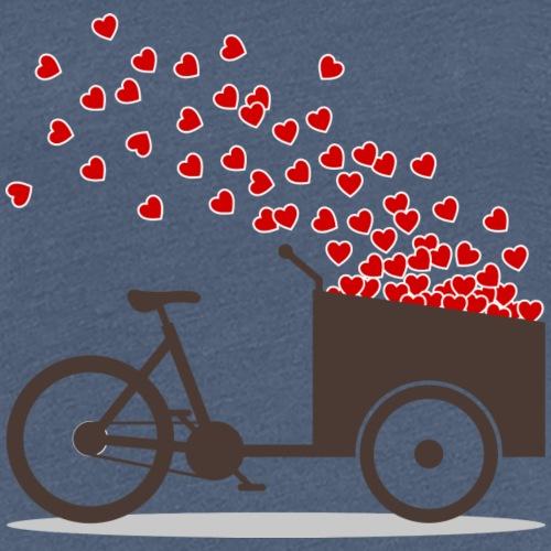 Lastenrad Liebe Herzen - Frauen Premium T-Shirt