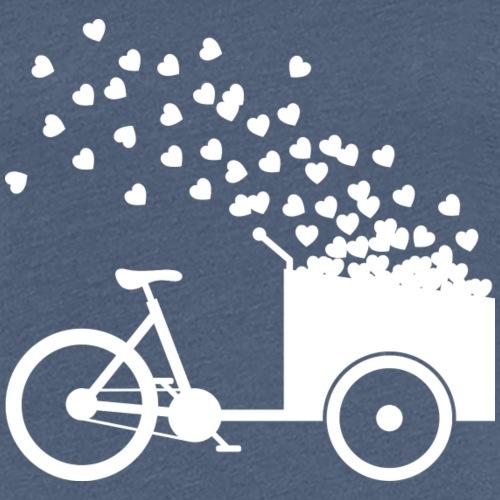 Lastenrad Herzen Liebe streuen - Frauen Premium T-Shirt