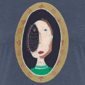 vincent design arthurine man oval hedgehog - Women's Premium T-Shirt
