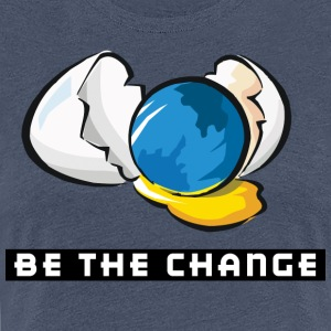 Earth Day Be The Change - Women's Premium T-Shirt