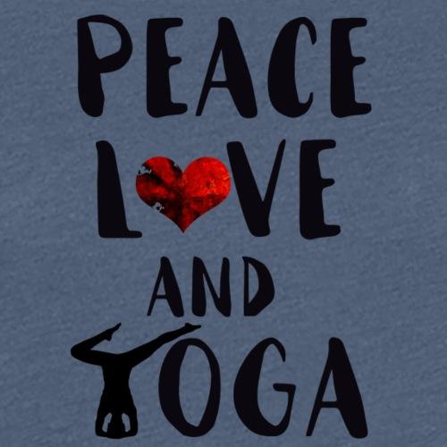 peace, love and yoga - Women's Premium T-Shirt