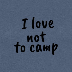 Camping t-shirt for Lazy - Women's Premium T-Shirt