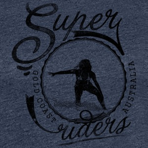 super surfer black - Women's Premium T-Shirt