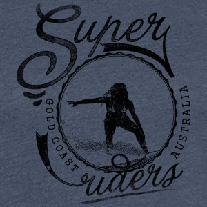 super surfer svart - Premium T-skjorte for kvinner