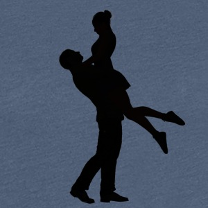 Happy couple dancing - Women's Premium T-Shirt