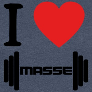 I LOVE Masse BLACK - Frauen Premium T-Shirt