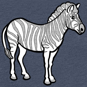 Zebra black - Women's Premium T-Shirt