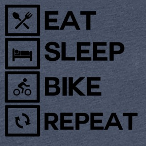 Bike Rythm - Eat Sleep Bike herhalen - Vrouwen Premium T-shirt