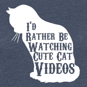 Cat / Cat Video / cat / verveling / verveling - Vrouwen Premium T-shirt