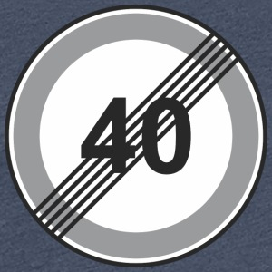 Road Sign 40 begrænsning - Dame premium T-shirt
