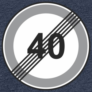 Road Sign 40 restriction - Women's Premium T-Shirt